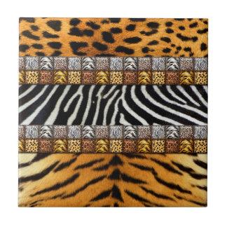 Impresiones del safari azulejo cuadrado pequeño
