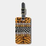 Impresiones del safari etiquetas bolsas