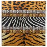 Impresiones del safari servilleta de papel
