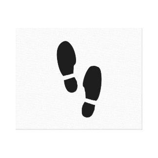 Impresiones del zapato lona estirada galerías