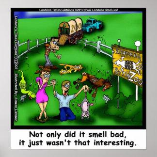 Impresiones divertidas de la lona del zoo-granja d