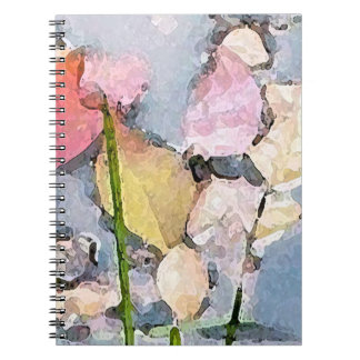 Impresiones en colores pastel cuaderno