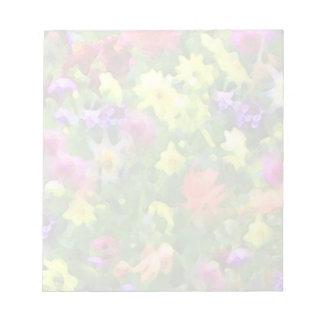 Impresiones florales blocs de notas