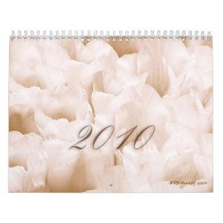 Impresiones florales calendario