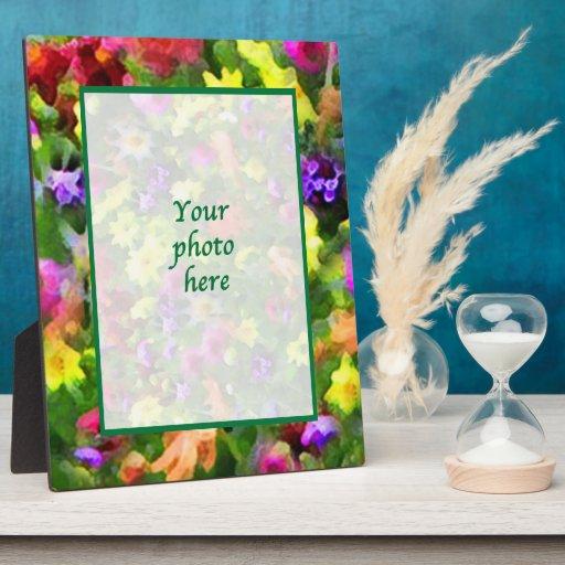 Impresiones florales placa