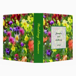 Impresiones florales que casan al planificador