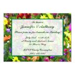 Impresiones florales que casan brunch invitación 12,7 x 17,8 cm