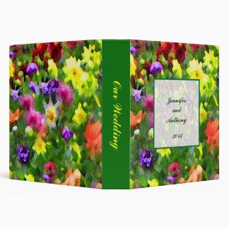 Impresiones florales que casan el álbum