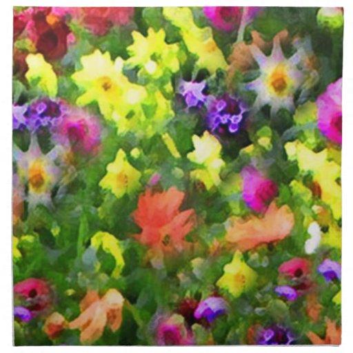 Impresiones florales servilletas imprimidas