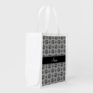 Impresiones grises conocidas personalizadas de la bolsa reutilizable