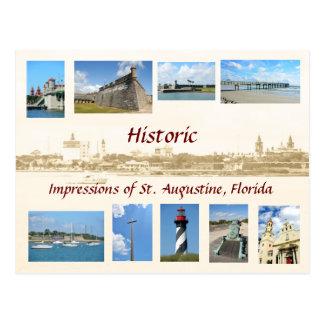 Impresiones históricas de St Augustine, la Florida Postales