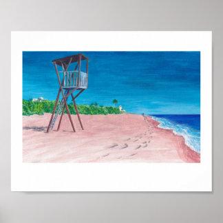 Impresiones impresionistas coloridas de la playa d