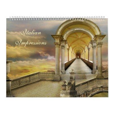 Impresiones italianas calendario de pared