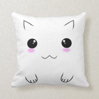 Impresiones lindas de la cara y de la pata del gat almohadas