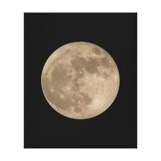 Impresiones lunares de la lona de la Luna Llena de Lona Estirada Galerías