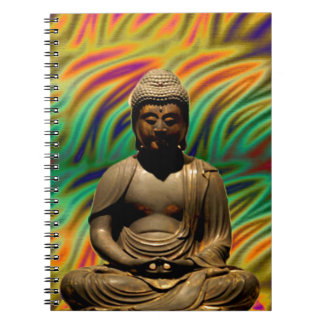 Impresiones Meditating pacíficas de Buda Libreta Espiral