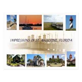 Impresiones postal de St Augustine, la Florida