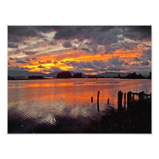 """IMPRESIONES - """"puesta del sol sobre el río Clark F Fotografías"""