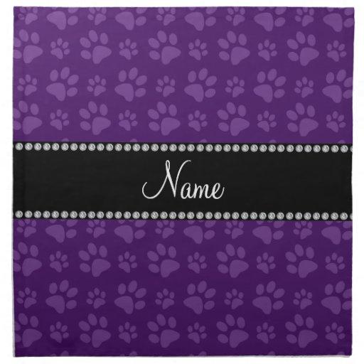 Impresiones púrpuras conocidas personalizadas de l servilleta