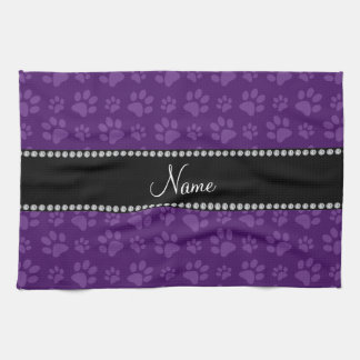 Impresiones púrpuras conocidas personalizadas de l toalla