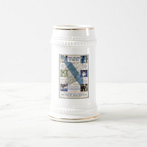 Impresiones retras del anuncio del poster del jarra de cerveza