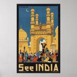 Impresiones retras del anuncio del poster del viaj