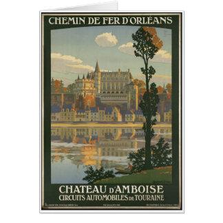 Impresiones retras del anuncio del poster del viaj tarjetas