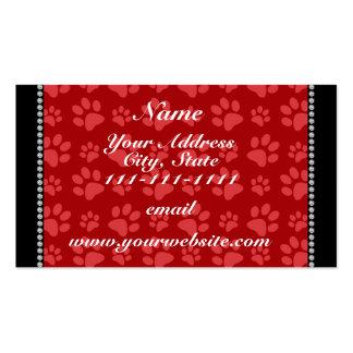 Impresiones rojas conocidas personalizadas de la tarjetas de visita