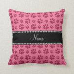 Impresiones rosadas conocidas personalizadas de la cojin