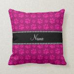 Impresiones rosadas conocidas personalizadas de la almohada