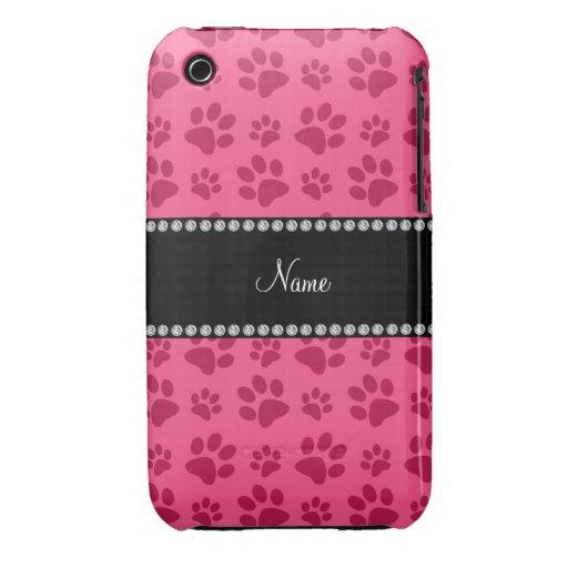 Impresiones rosadas conocidas personalizadas de la Case-Mate iPhone 3 protectores