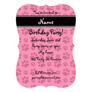 Impresiones rosadas conocidas personalizadas de la invitación 12,7 x 17,8 cm
