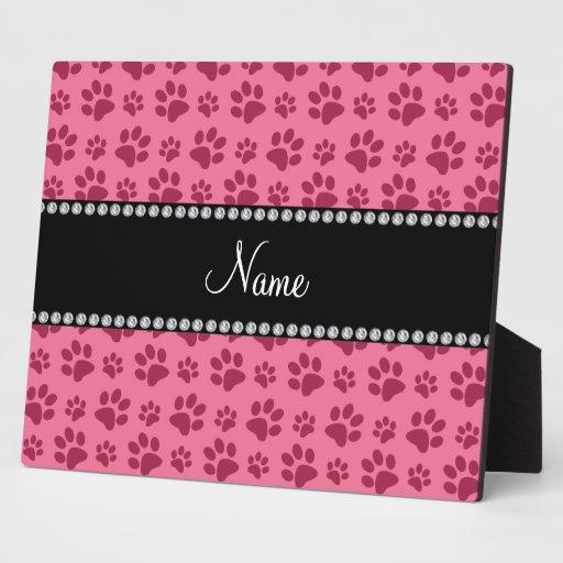 Impresiones rosadas conocidas personalizadas de la placas de madera