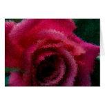Impresiones rosadas Notecard en blanco Tarjetas