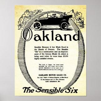 Impresiones sensata del coche de Oakland de la