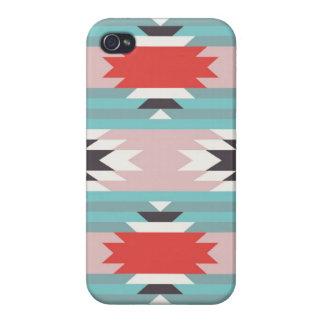 Impresiones tribales aztecas del nativo americano  iPhone 4 carcasas