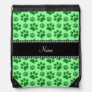 Impresiones verdes claras conocidas personalizadas mochilas