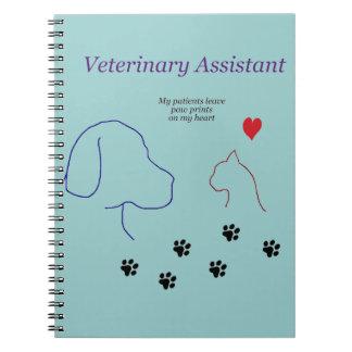 Impresiones veterinarias de la Ayudante-Pata en mi Note Book