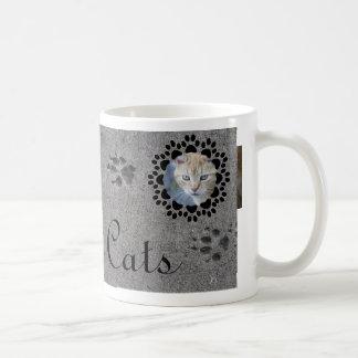 Impresiones y foto de la pata taza de café
