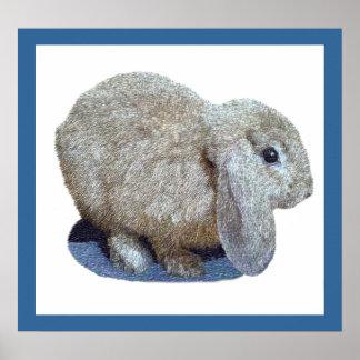 Impresiones y posters del conejo del oído de Holan