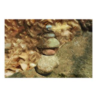 Impresionismo abstracto de equilibrio de las rocas fotografía