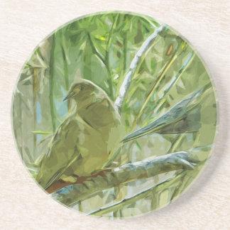Impresionismo abstracto de las palomas de la mañan posavaso para bebida