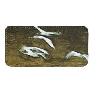 Impresionismo abstracto de los cisnes de bolsillo para iPhone
