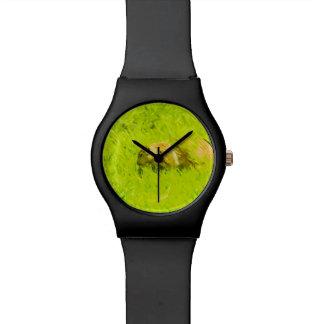 Impresionismo abstracto del perro de las praderas relojes de pulsera