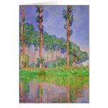 Impresionismo de los árboles de álamo por la tarjeta de felicitación