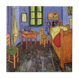 Impresionismo de Van Gogh, el dormitorio de Azulejo Cuadrado Pequeño