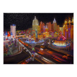 Impresionismo del arte de CBjork Las Vegas Posters