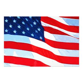 Impresionismo del extracto de la bandera americana fotografía