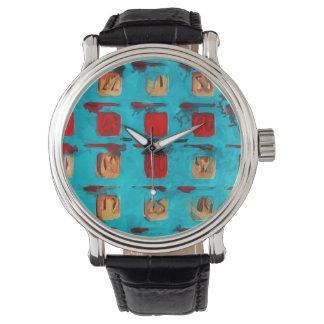 Impresionismo del extracto de la tarjeta del BINGO Relojes De Mano