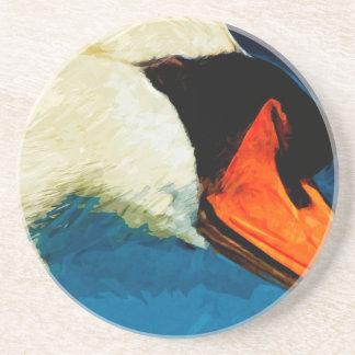 Impresionismo del extracto del cisne mudo posavasos personalizados